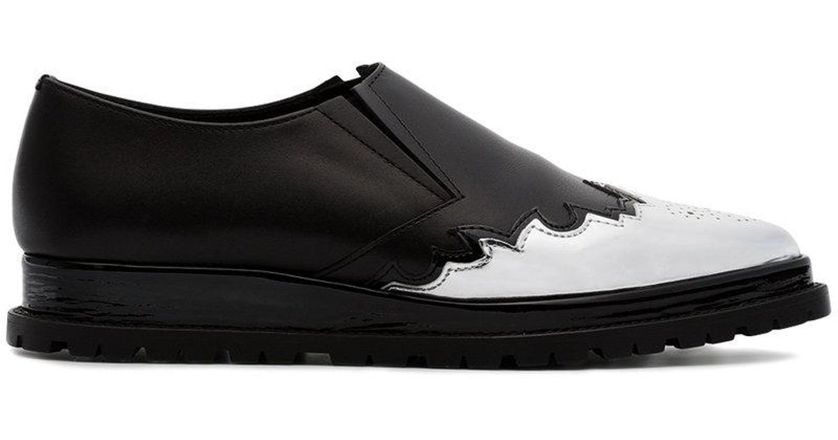 flat Oxford shoes - Black sacai