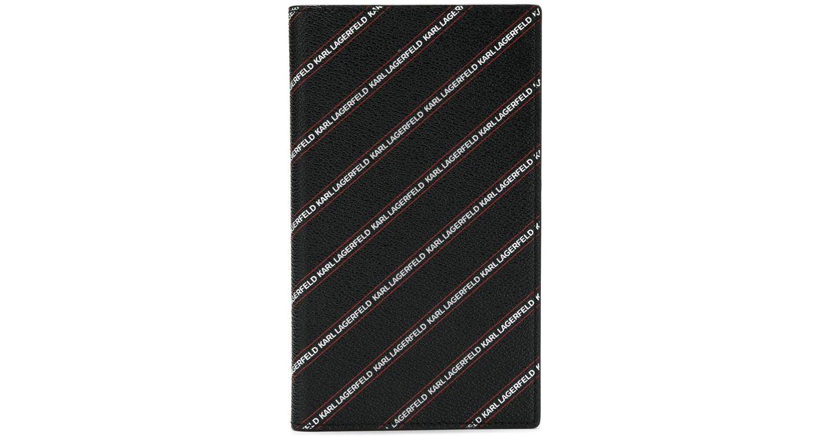 striped logo travel wallet - Black Karl Lagerfeld WDezcbUy