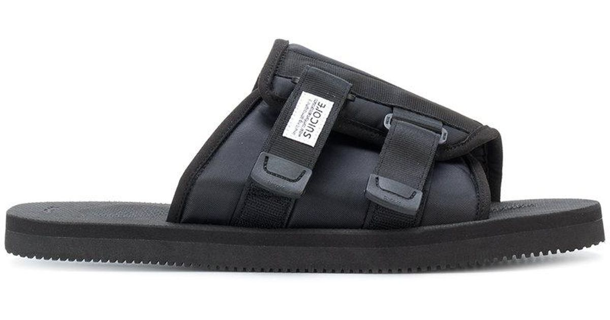 buckle detail slides - Black Suicoke SiI5pepY