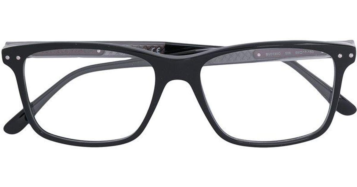 Lyst - Bottega Veneta Rectangle Frame Glasses in Black