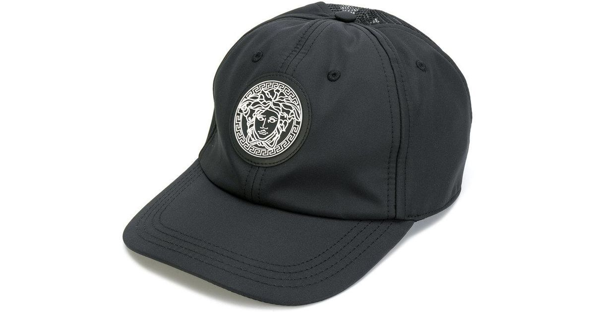 Lyst - Versace Medusa Patch Baseball Cap in Black for Men 9d161c38a32