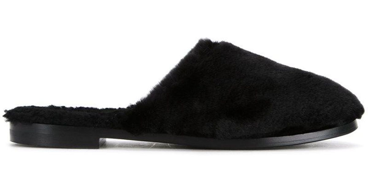 Aspen beaver slippers - Black Avec Moderation 2Mwed8ki