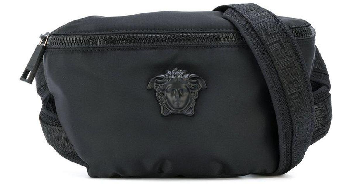 a8bca5d1a7 Versace Medusa Palazzo Belt Bag in Black for Men - Lyst