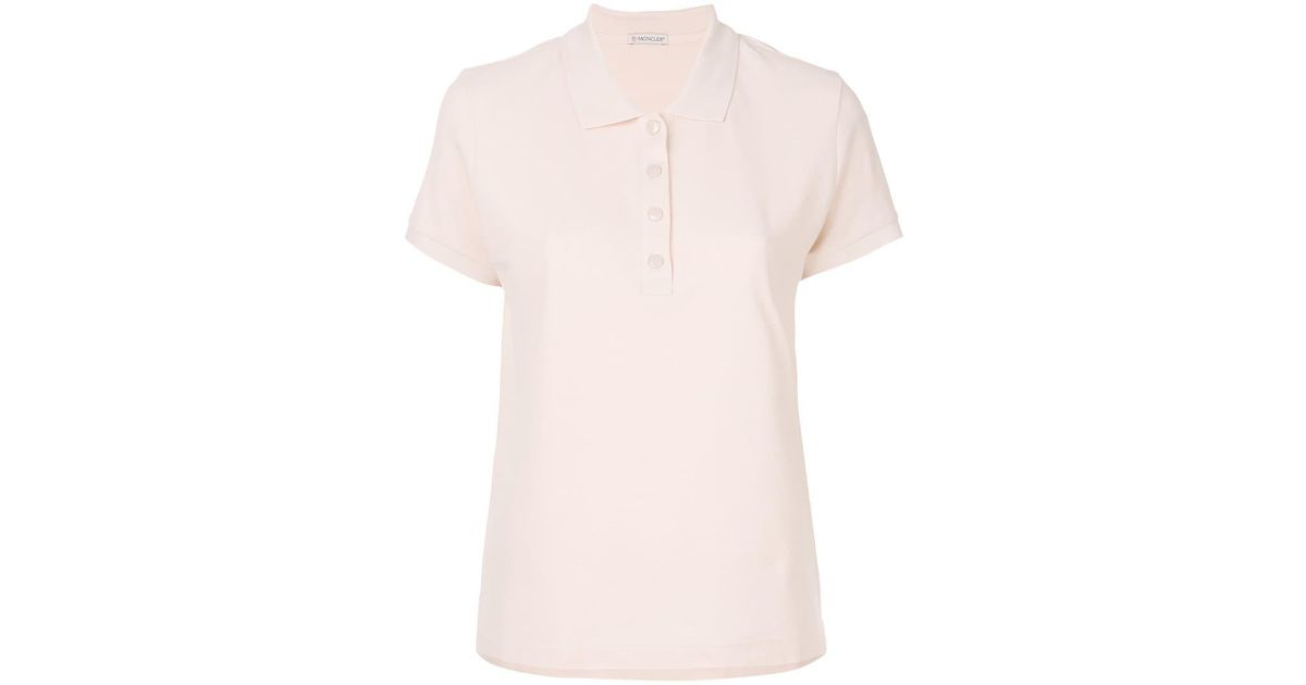 5e432f7f6 Lyst - Moncler Cropped Polo Shirt in Pink