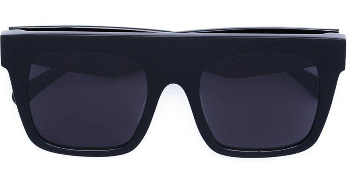 Lyst - Vera Wang Square Frame Sunglasses in Black