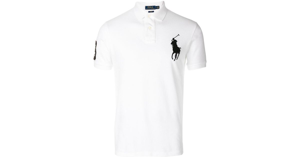 c1cb1946 Lyst - Polo Ralph Lauren Embroidered Big Pony Polo Shirt in White for Men