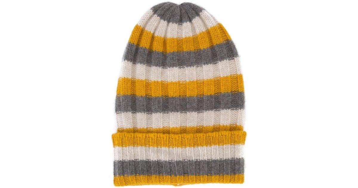 striped beanie - Yellow & Orange The Elder Statesman MqEHa3ue