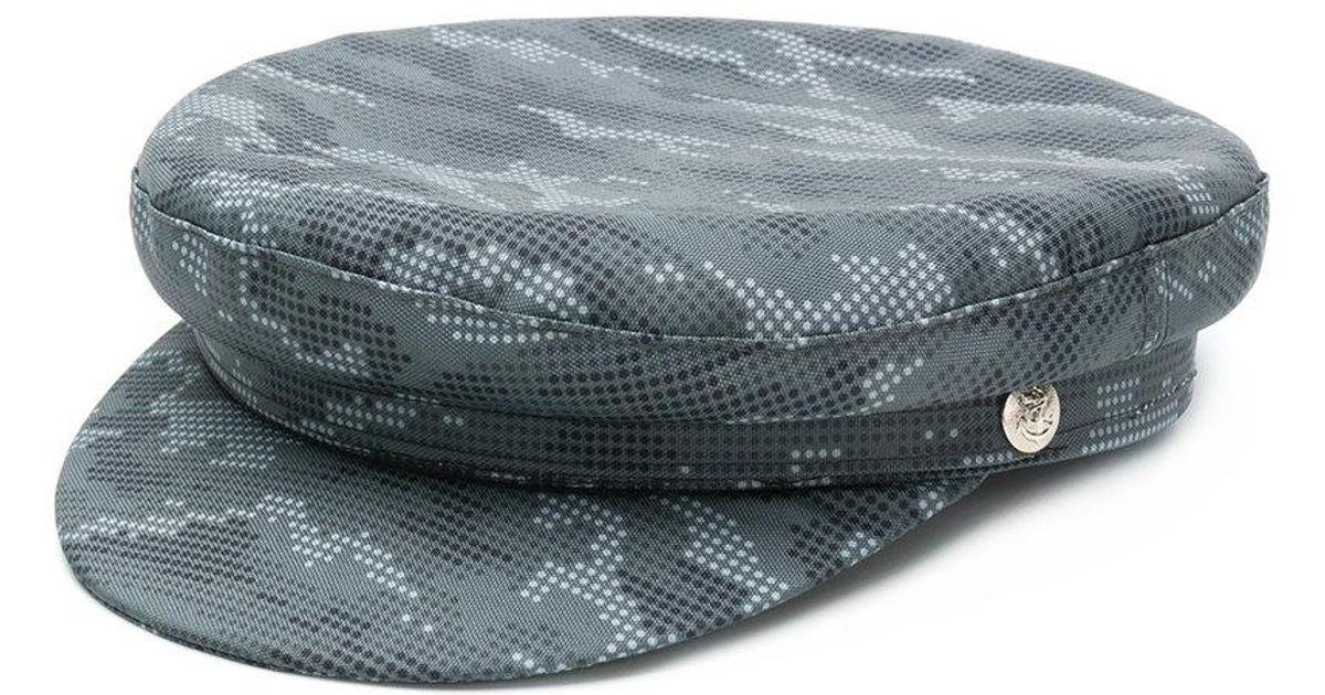 dot print Biker hat - Black Manokhi qcDFvt