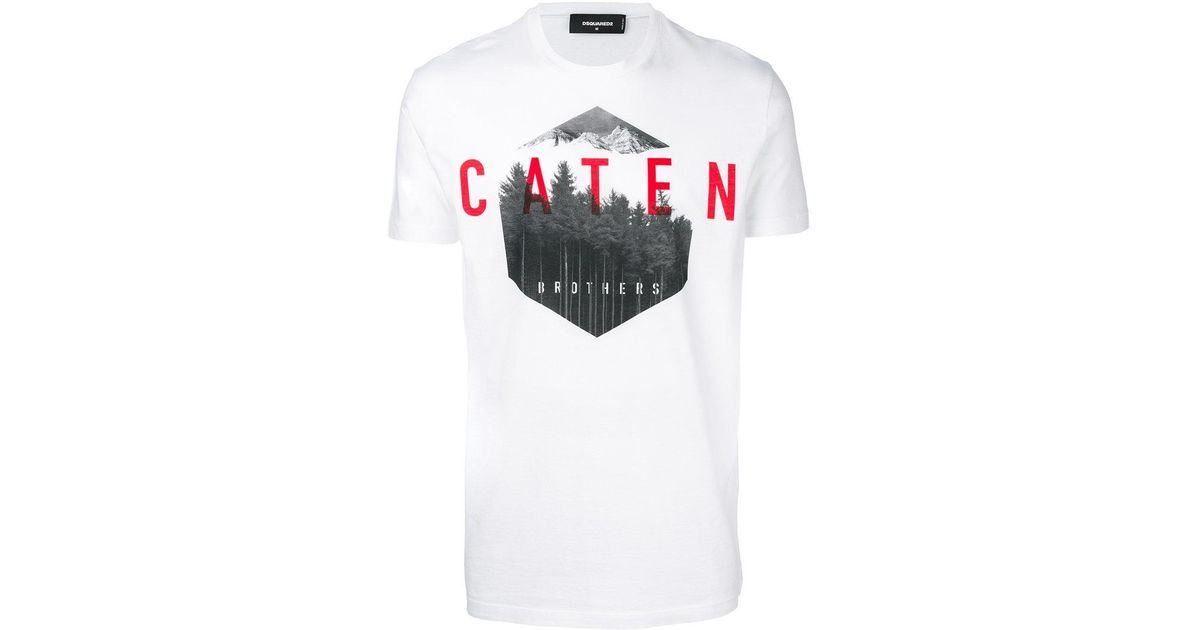Brothers Lyst For Dsquared2 Shirt Caten Men T In White dQstrhC