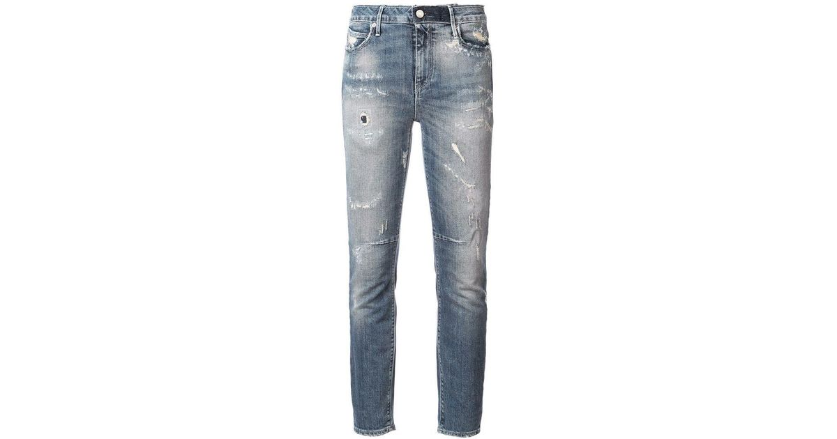 Lyst - Rta Ripped Stonewashed Skinny Jeans in Blue ed1ede4f191