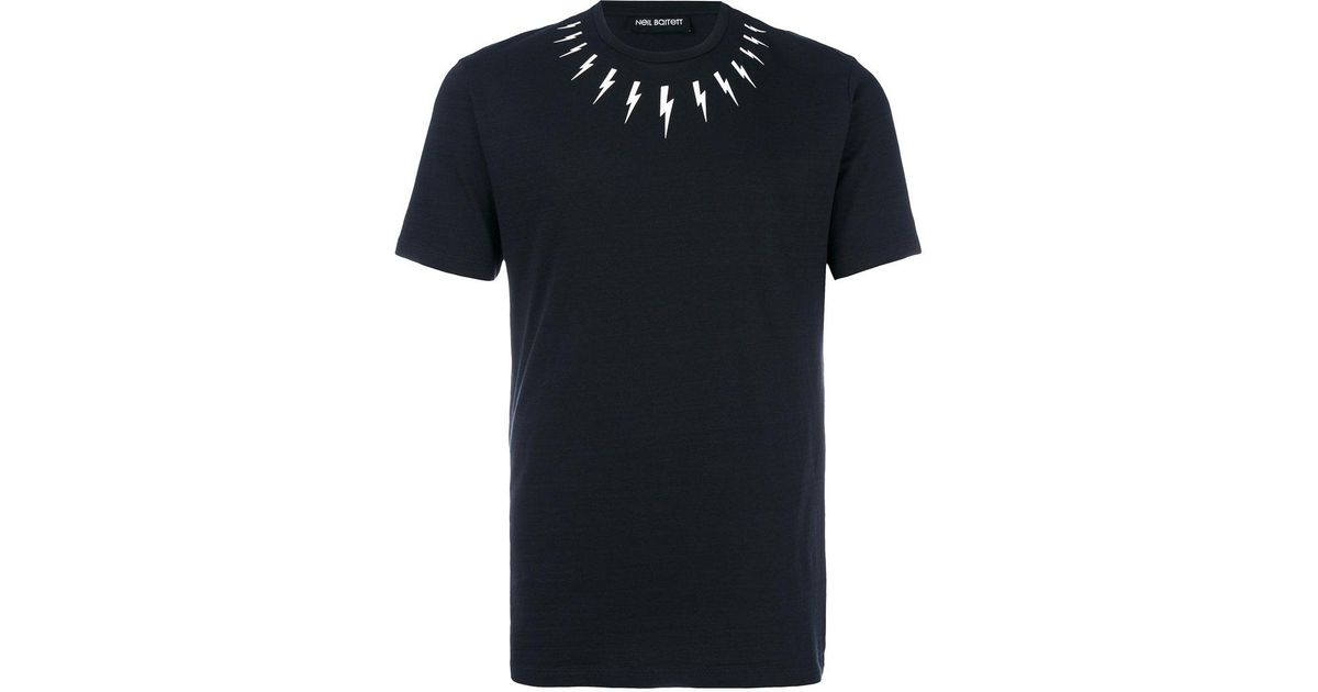 1f106c6f5 Neil Barrett Lightning Bolt T Shirt Black - The Best Of Image Bolt ...