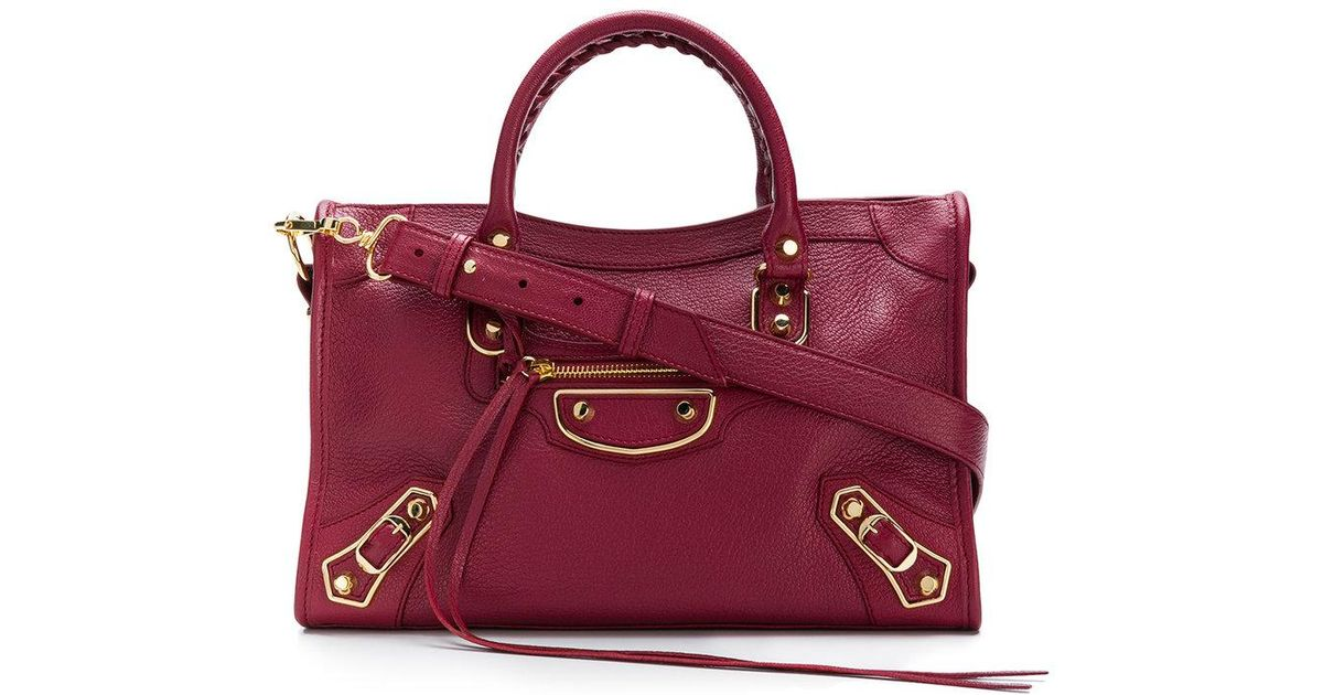 Petit Lyst Balenciaga Main City Sac Red À y6Ybgvf7