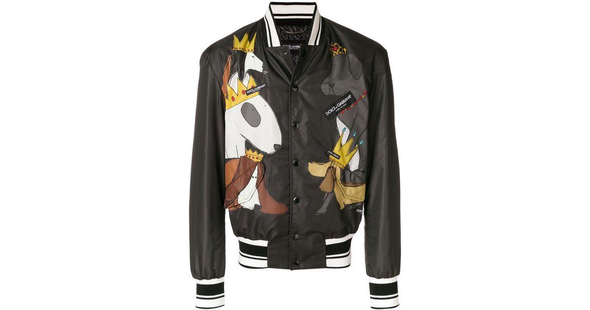 Jacket Black Bomber Men Gabbana Lyst Dog For Dolce In amp  Printed wOq1gYTf f5d40e63714a