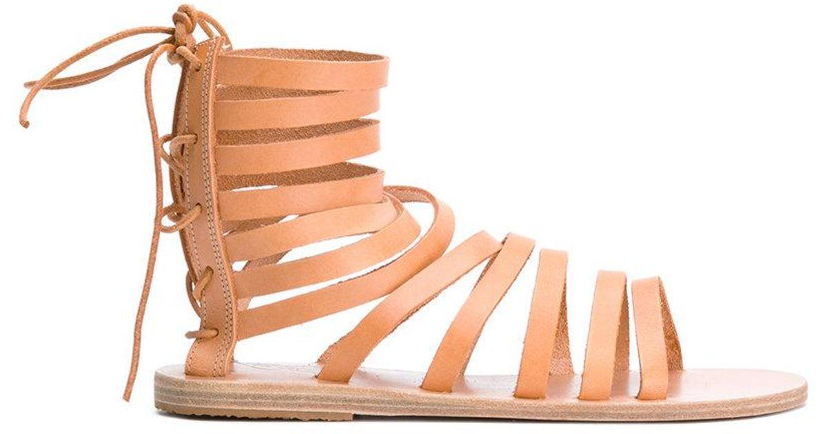 1d75a4b6e5364f Lyst - Ancient Greek Sandals Galatia Flat Sandals