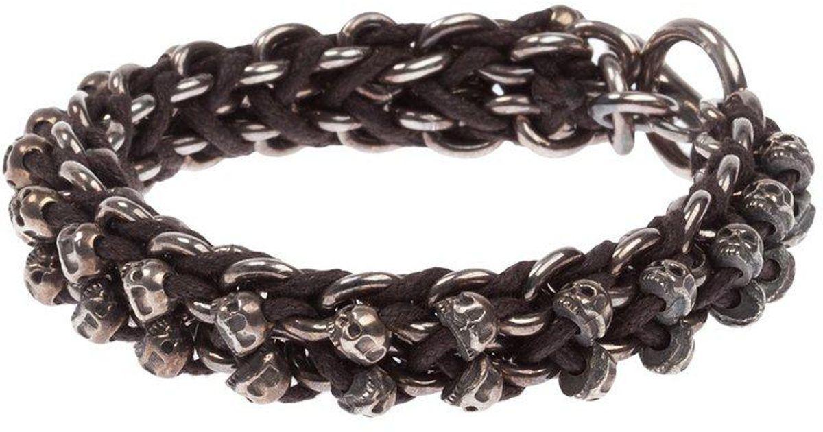 Tobias Wistisen skull bar bracelet - Brown oq4TKYK