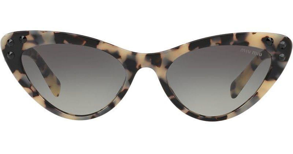 863131881c75 Miu Miu Cat Eye Sunglasses - Lyst