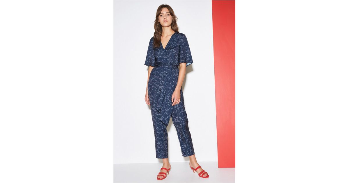 3597864c7ef Lyst - The Fifth Label Rooftop Polka Dot Jumpsuit in Blue