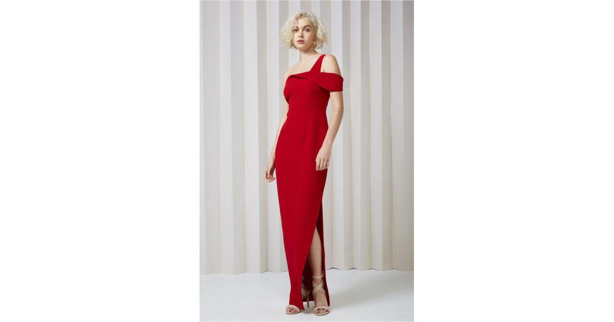 94b424d1270 Lyst - Keepsake Shooting Star Gown in Red