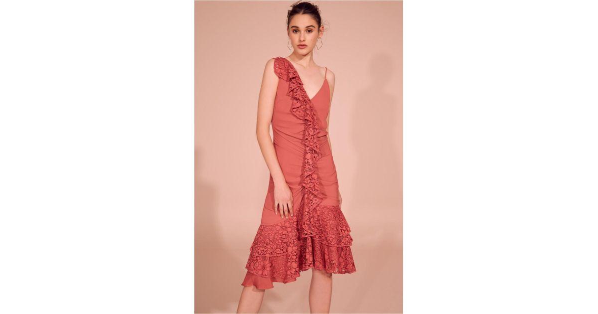 Keepsake All Night Dress in Red - Lyst 944d4b00c