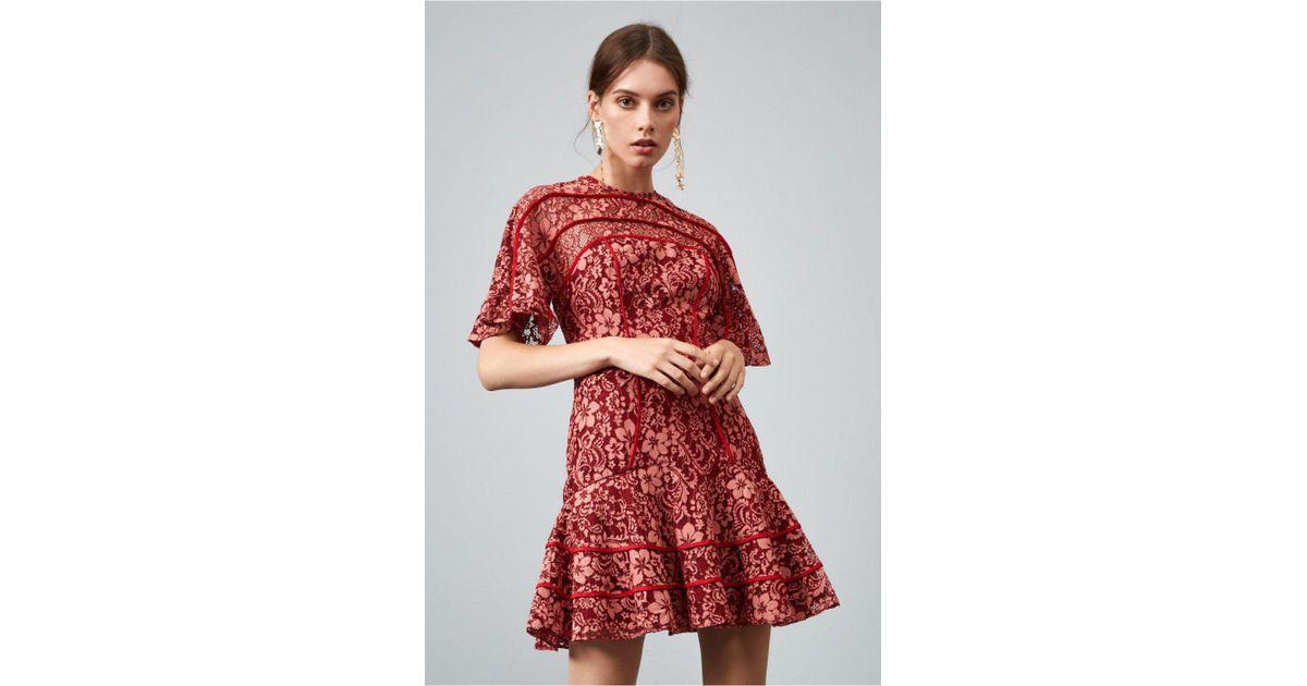 23efb1b82ee24 Keepsake Dreamers Lace Mini Dress in Red - Lyst