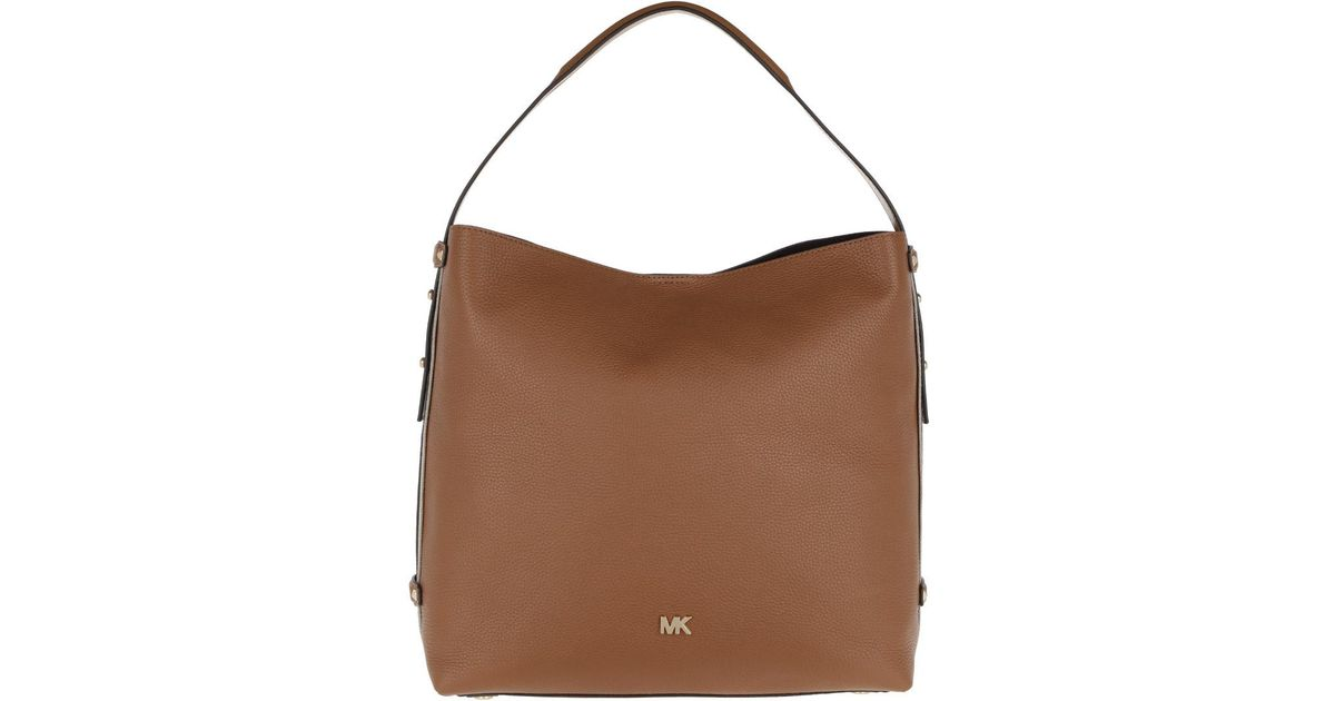 37dade79bb1 Michael Kors Griffin Lg Hobo Bag Acorn in Brown - Lyst