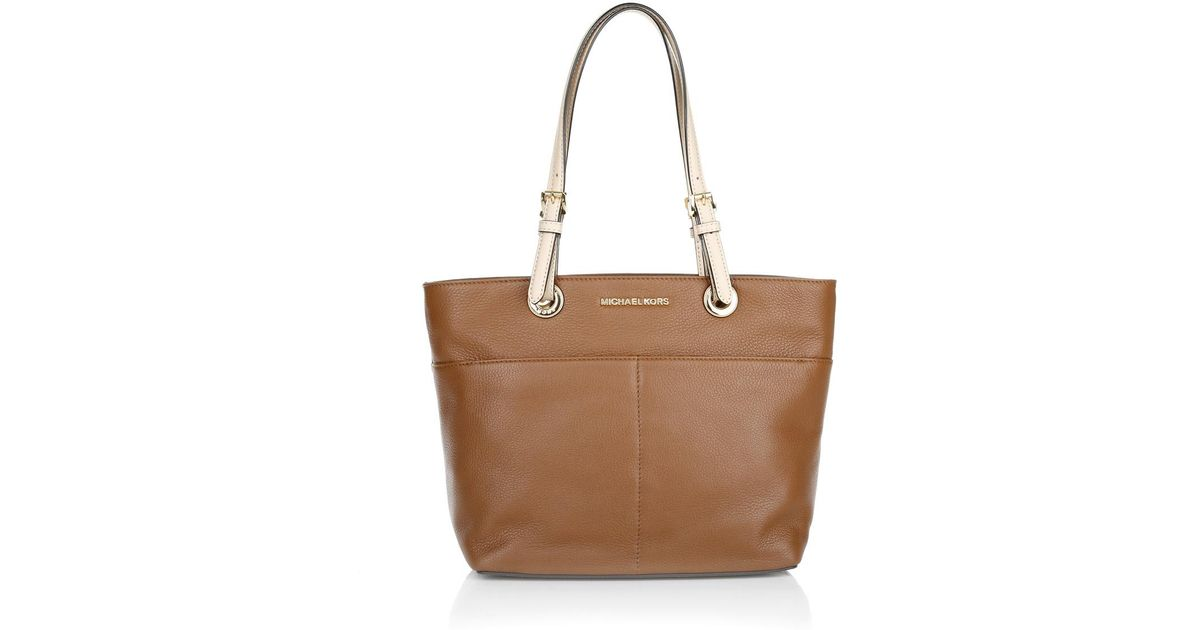 120dec290ac5 ... inexpensive michael kors bedford tz pocket tote luggage lyst bbf38 f3532