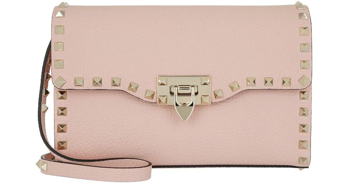 Rockstud Mini-sac De Selle Dans L'eau De Rose Valentino Lisse De Veau kulWyEJjJ