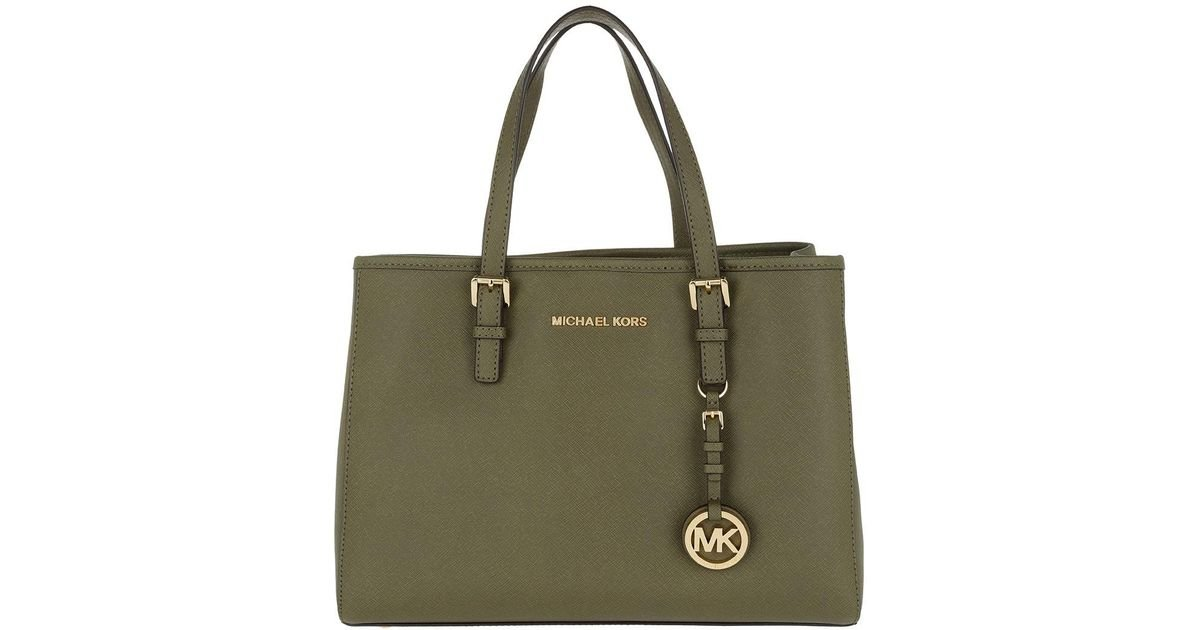 1aa7446c0d8a6e Michael Kors Jet Set Travel Md Ew Tote Olive in Green - Lyst
