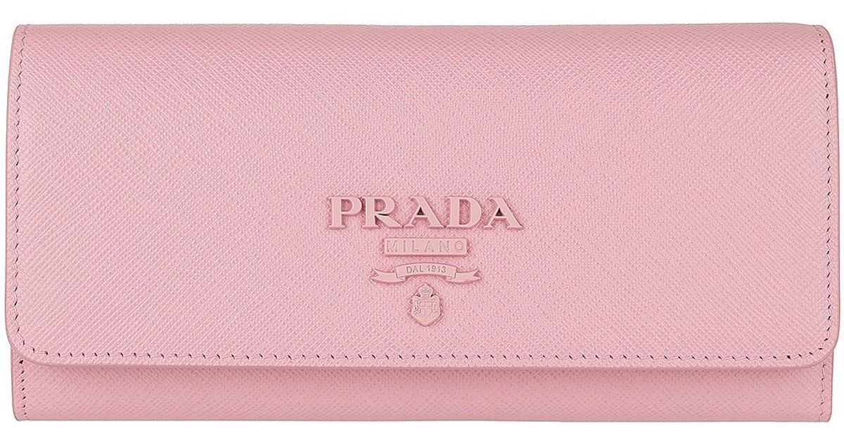 Wallets - Wallet With Flap Saffiano Leather Petalo - rose - Wallets for ladies Prada Hk2oLrxM