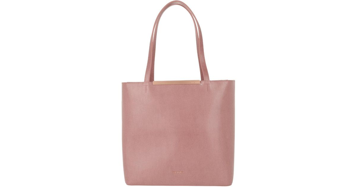15280ee7c Ted Baker Melisa Core Large Leather Shopper Xmid Pink in Pink - Lyst