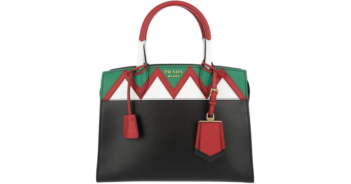 04a2acdd6496 ... aliexpress prada esplanade borsa a mano saffiano city calf tote bag  nero rosso in black lyst