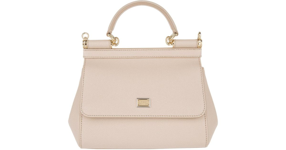 925ea45d7bea Dolce   Gabbana Mini Bag Sicily Vitello Stampa Dauphine Rosa Carne 1 in  Pink - Lyst