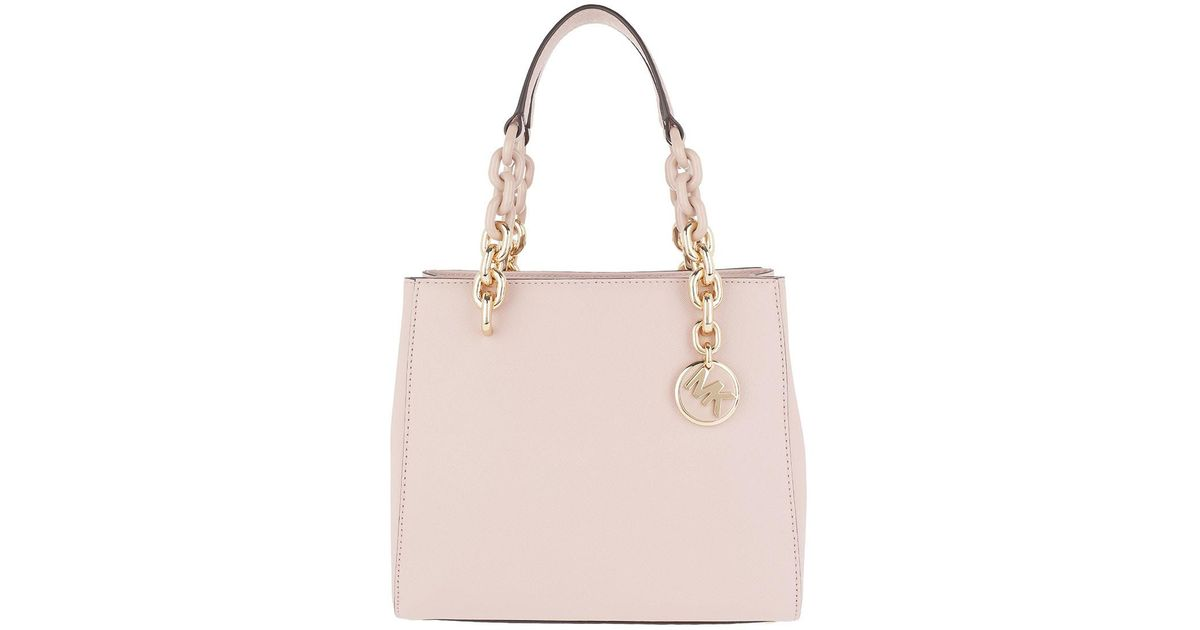 35c36971fd1d Michael Kors Cynthia Sm Ns Convertible Satchel Bag Soft Pink in Pink - Lyst