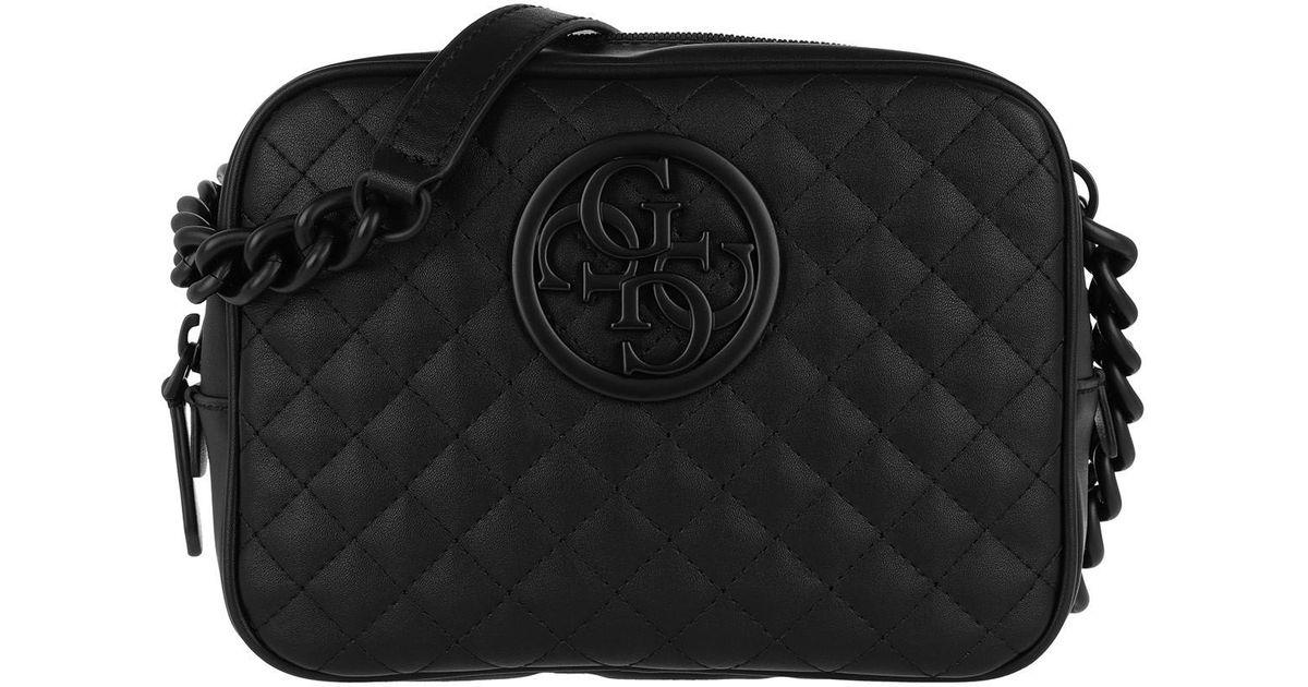Guess G Lux Crossbody Bag Top Zipper Black