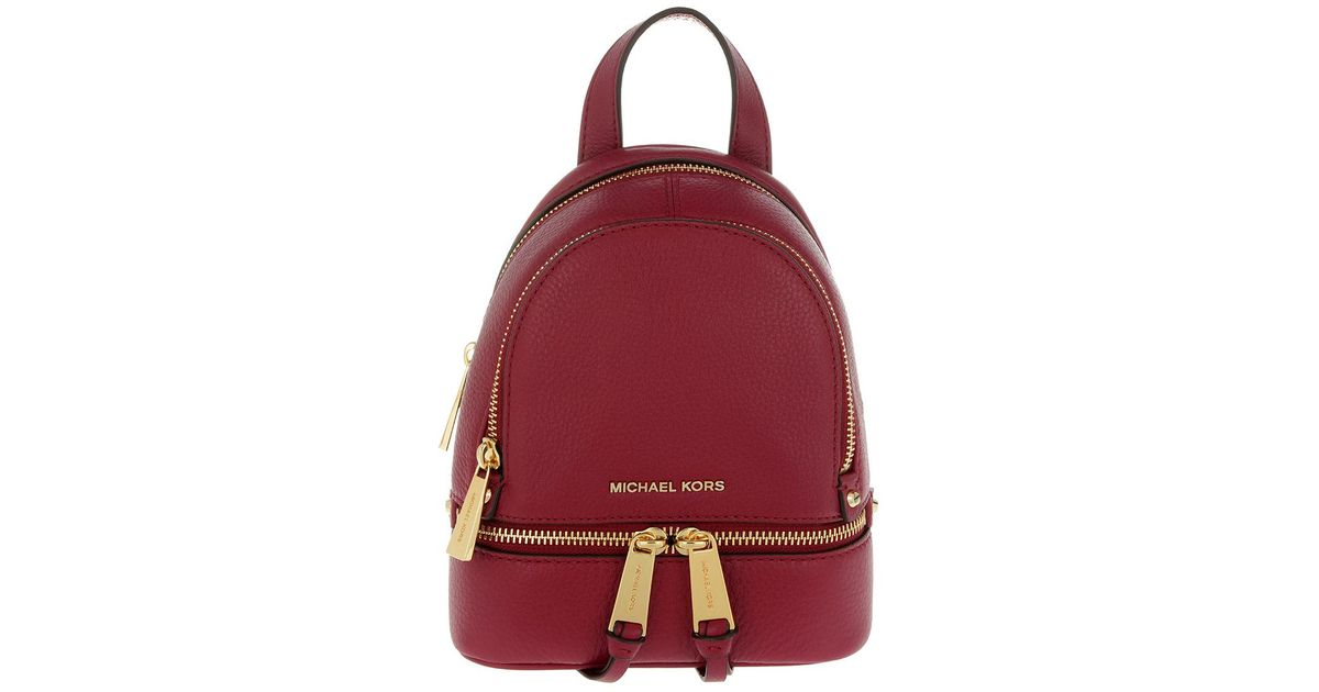 7d715e5759 1234567 30389 50950  reduced michael kors rhea zip xs messenger backpack  mulberry in red lyst c63a6 84795