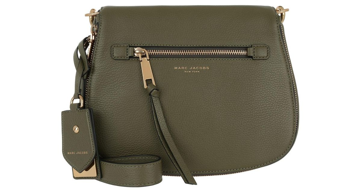 4b371e12f3 Marc Jacobs Recruit Small Saddle Shoulder Bag Army Green in Green - Lyst