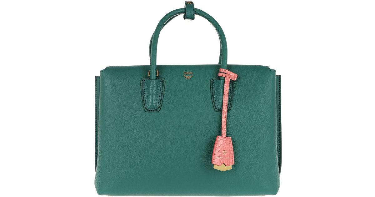 d4c791763 MCM Milla Tote Medium Hopper Green in Green - Lyst