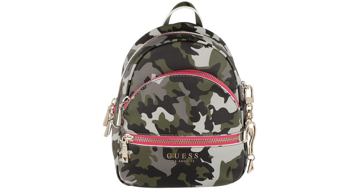 fa2bfea6d31f Guess Manhattan Small Backpack Camouflage in Green - Lyst
