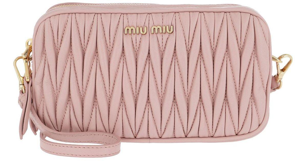 Miu Miu Quilted Camera Bag Orchidea in Pink - Lyst f120612148439