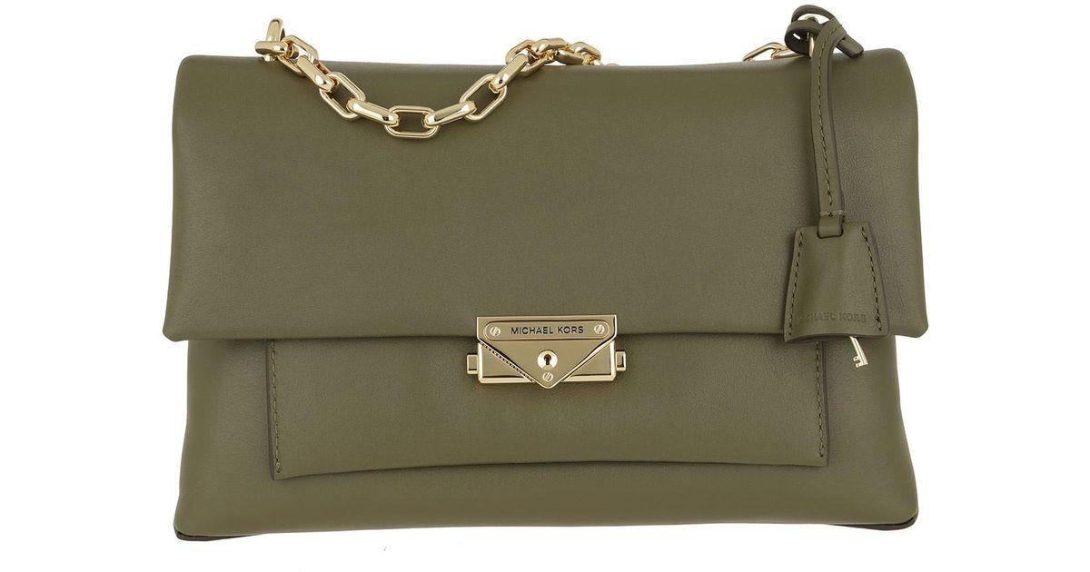 4f002713d7 Michael Kors Cece Large Chain Shoulder Bag Olive in Green - Lyst
