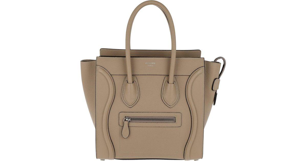 Céline Micro Luggage Handbag Dune in Natural - Lyst e2b72f58da710