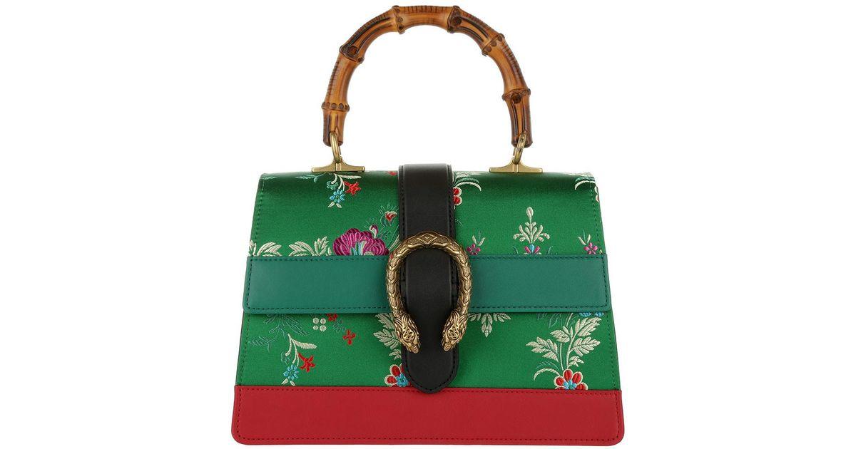 74f58bc53b9 Gucci Dionysus Satchel Bag Green Flower-jacquard in Green - Lyst