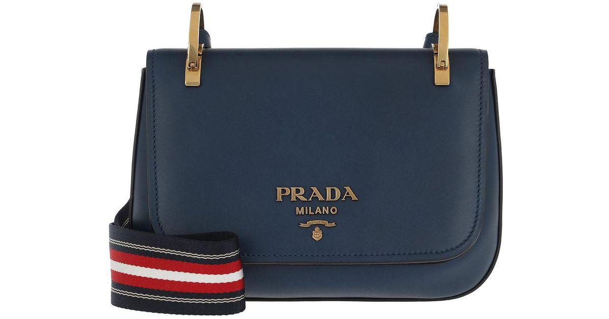 7b95d63d92b7ef Prada Pionniere Bag Leather Royal Blue in Blue - Lyst