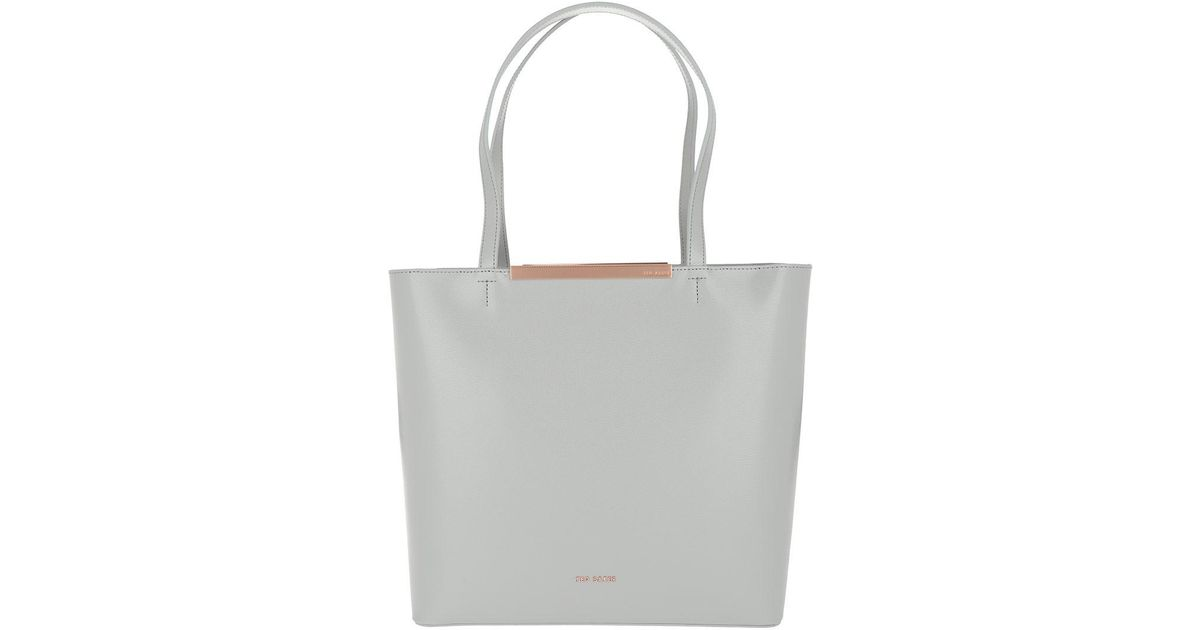 c13abdf9d Ted Baker Melisa Core Large Leather Shopper Grey in Gray - Lyst