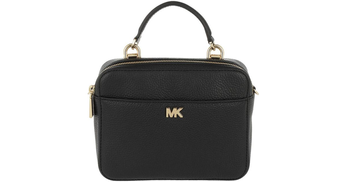 377a04785323cf Michael Kors Md Gtr Strap Xbody Bag Black in Black - Lyst