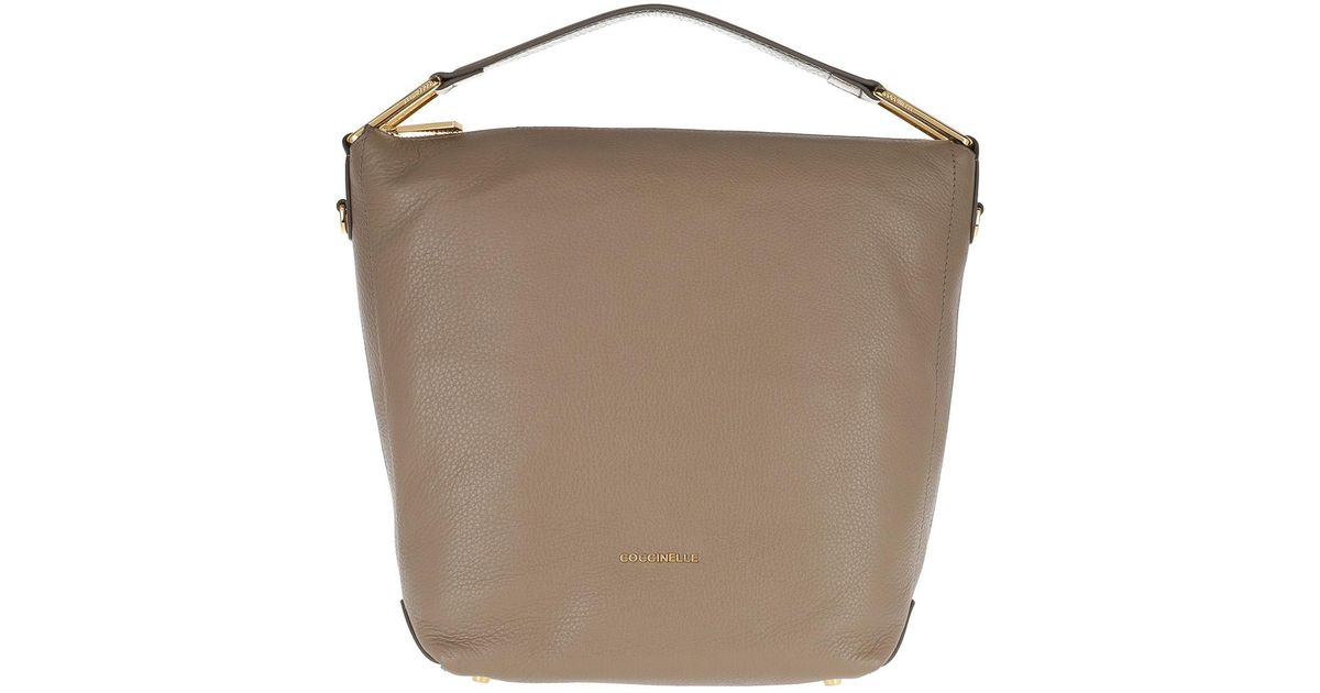 f5b6b3ed4184 Coccinelle Liya Hobo Bag 2 Taupe noir in Brown - Lyst