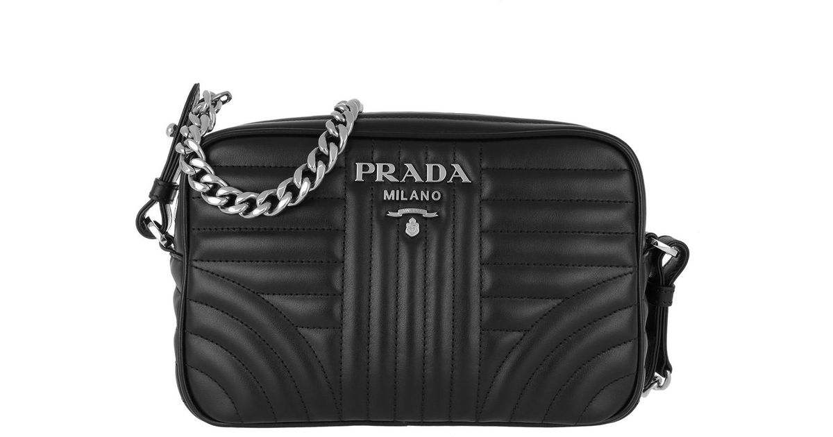 aa80d55587 Prada Soft Calf Diagramme Crossbody Nero in Black - Save 17% - Lyst