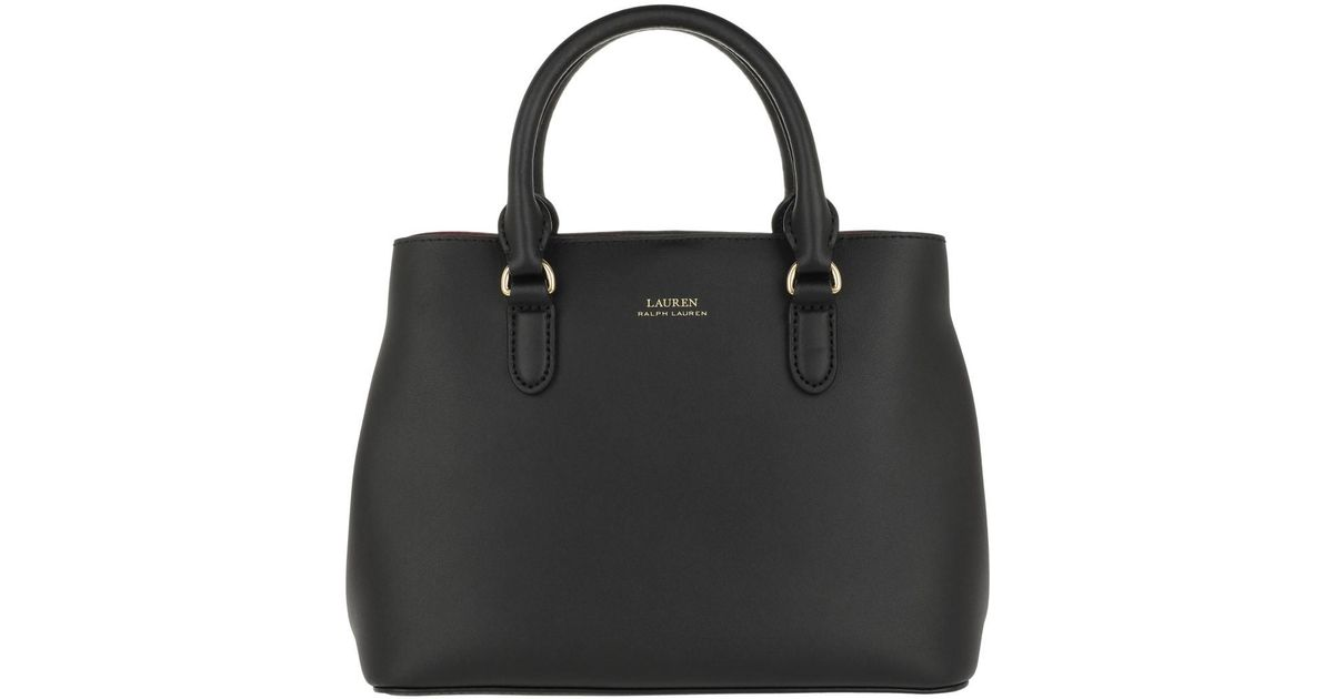 9ee249395b Lauren by Ralph Lauren Dryden Marcy Ii Satchel Mini Black in Black - Lyst