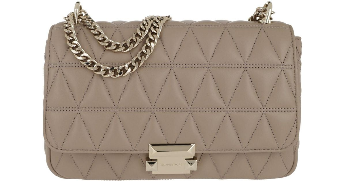 cac04b82f8f Michael Kors Sloan Lg Chain Shoulder Bag Truffle in Natural - Save 22% -  Lyst