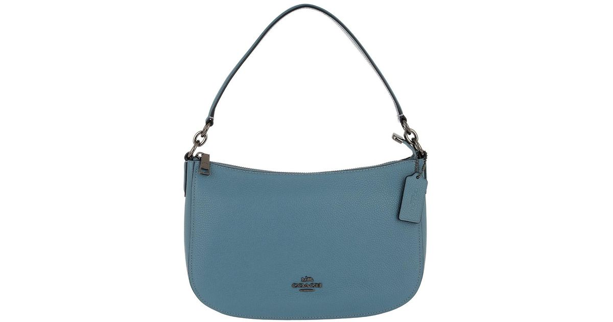40f968b5a16b COACH Light Blue Cross-body Bag in Blue - Lyst